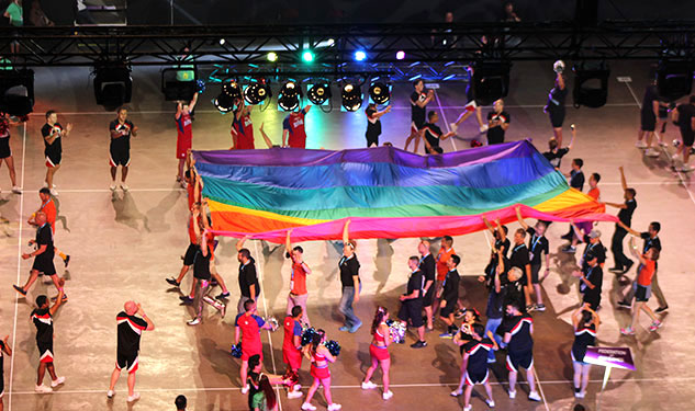 PHOTOS: Cheerleaders, Pointer Sisters, and the President Kick Off 2014 Gay Games