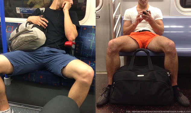 PHOTOS: Men With Their Legs Spread on Public Transit