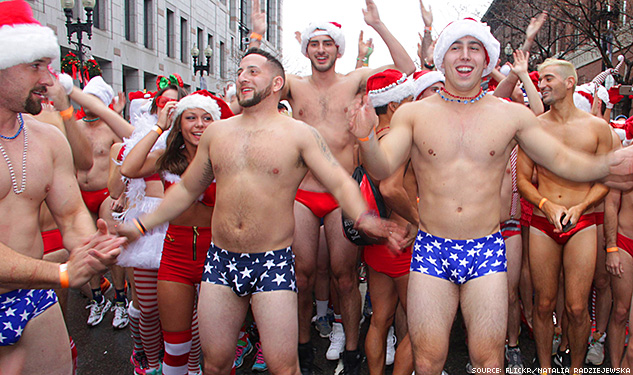 Winter in Boston: Perfect Time for a Speedo Run