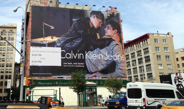 Calvin Klein's Gay Couple Fronts New York Billboard